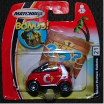 Diecast SMART car by Matchbox cars. Focusing on a smaller market will make your collecting easier